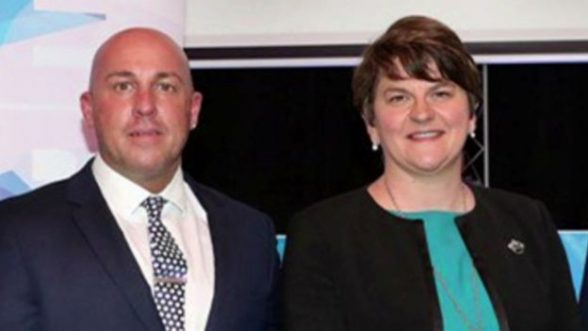 UDA North Down commander Dee Stitt with First Minister Arlene Foster