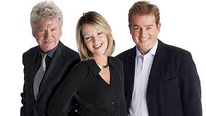 Good Morning Ulster presenters Conor Bradford, Karen Patterson and Mark Carruthers