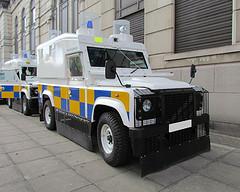 Four tonne armoured PSNI Landrover struck teenage boy in north Belfast