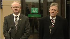 Martin McGuinness and Peter Robinson at war over 'cowardice' remarks