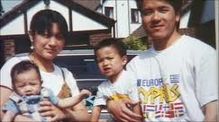 Murder victim Simon Tang and his family in happier times