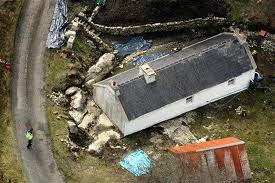 Murder scene..aerial shot Denis Donaldson's Donegal cottage