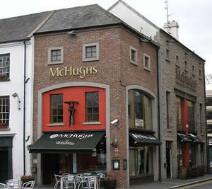McHugh's bar and restaurant has now been put for sale by the administrators KPMG