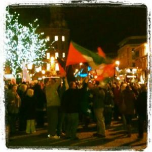 Pro-Palestinian rally this evening in Belfast in December 2012
