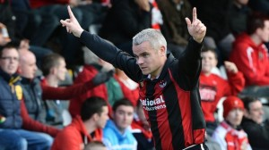 Timmy Adamson is back for Crusaders v Linfield on Tuesday