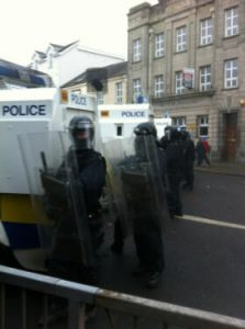PSNI officers could be refused to be served over union flag row
