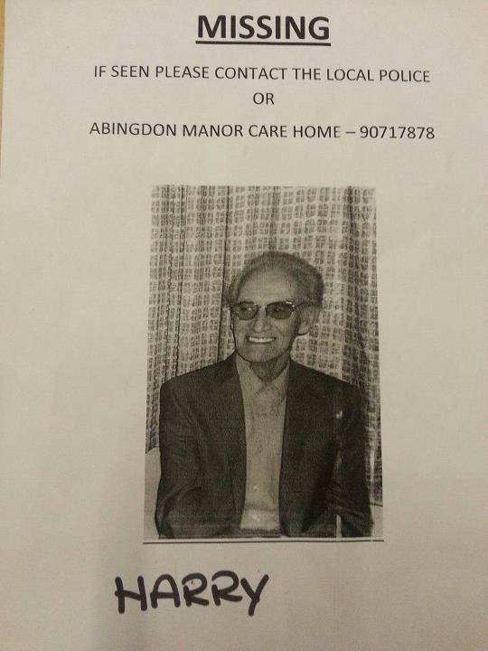 Missing nursing home patient 'Harry'