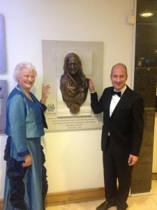 Stephen Watson unveils bronze bust of Dame Mary Peters