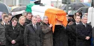 The funeral cortege of Detective Garda Adrian Donohoe