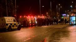 Trouble flared after petrol bombs were thrown by loyalists into the Short Strand