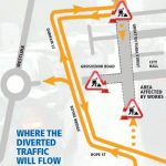 A map of where Belfast roadworks will take place