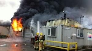 Firefighters tackle blaze in Campsie