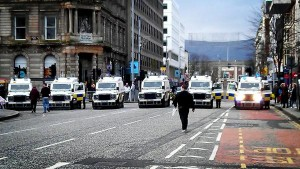 Police out in force for Union Flag protest
