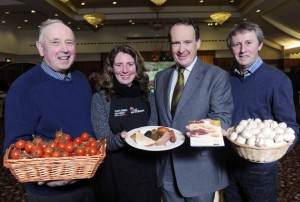 Howard Hastings with local suppliers to Hastings Hotel group