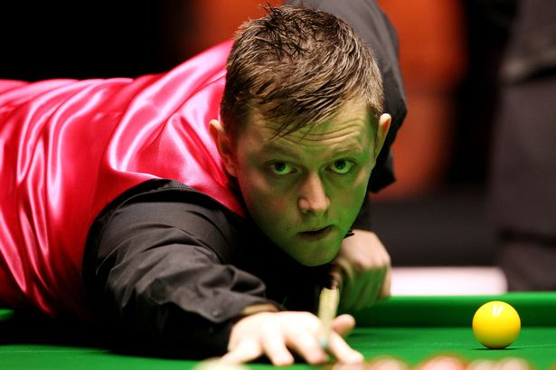 Northern Ireland's Mark Allen in action at the Masters Snooker