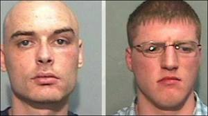 Thomas Devlin's killers Nigel Brown (left) and Gary Taylor