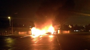 Bus hijacked and set on fire in Co Antrim last Friday night
