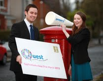 Neil Coleman and Michelle Carson from Power NI announce 2013 'Quest' new community energy saving champions