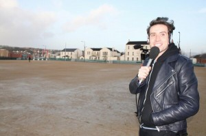 BBC Radio 1 check out the venue for this year's 'Big Weekend'