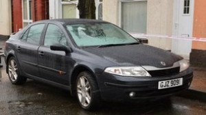 Thje stolen Renault Laguna car used in the kidnap and robbery