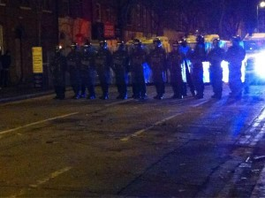 Police take back control of Newtownards Road