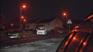 The scene of the accident in Ballykeel, Ballymena