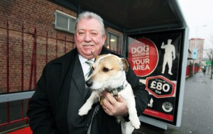 SDLP councillor Pat McCarthy with his dog Jack at the counci's Your Dog, Your Job campaign