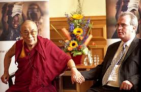 Dalai Lama with Richard Moore during his last visit in 2007