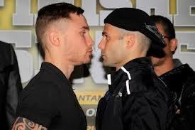 Karl Frampton squares up to Kiko Martinez ahead of their fight