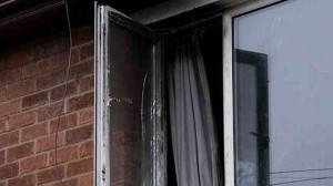 Scene of the house fire in west Belfast