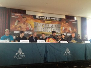 Seconds out...Frampton and Martinez Europa hotel press conference