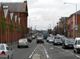Ormeau the slowest road for traffic in the morning in Belfast