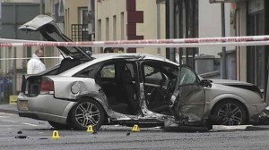 The horrific crash scene in Limavady which cliamed the life of a female PSNI officer