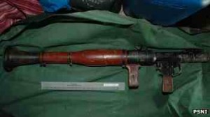 The Russian-made RPG-7 rocket launcher seized in west Belfast