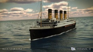 An artist's impression of the Titanic II which plans to sail by 2016
