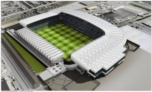 The new look 18,000 all seater Windsor Park stadium