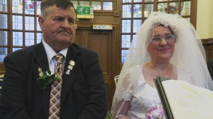 Billy Coulter and Carol Smith tie knot at Belfast City Hall