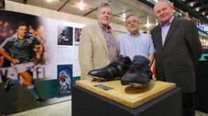 Peter Robinson and Martin McGuinness open a George Best exhibition in Sao Paolo