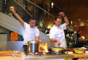Paul Rankin cooking up delights in his Cayenne restaurant