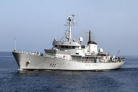 Irish Naval Service from L E Aoife board Co Down fishing vessel off Galway coast