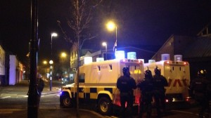 One police injured during rioting in south Belfast on St Patrick