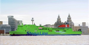 How a Stena Line ship would like for St Patrick's Day