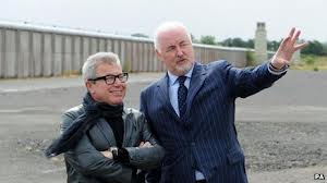 Architect Daniel Libeskind and Terence Brannigan at the maze prison
