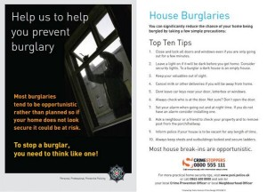 The PSNI lealfet on how to keep homes secure and burglars out