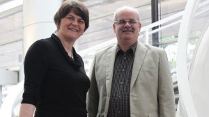 Enterprise Minister Arlene Foster and IBC Trading MD Iain Wilson