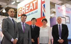 Enterprise Minister Arlene Foster at fair and forum in Brazil