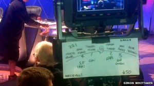 The Question Time floorplan which called John O