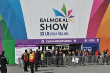 The entrance to the bigger and better Balmoral Show at the Maze