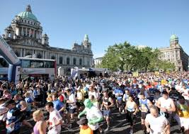 A minutes silenc held in Belfast for Boston bomb victims ahead of the city's marathon