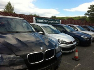 A BMW among seven cars seized during £350k drugs bust in Co Down on Tuesday